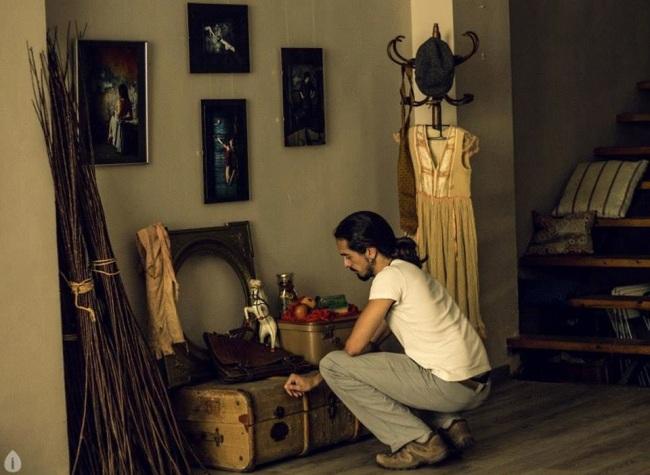 """Daniel Ortega """"Daniélfico…"""" en su exposición """"Costumbrismo Ilustrado"""". Foto de Irene Caminero."""