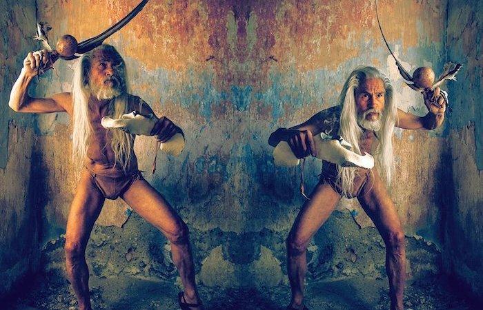 """Montaje con dos fotos de la serie """"Costumbrismo Ilustrado"""", de Daniel Ortega."""