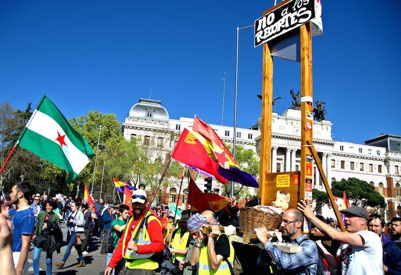 Marchas de la Dignidad en Madrid, el 22 de marzo. Foto de Javier Martín Espinosa.