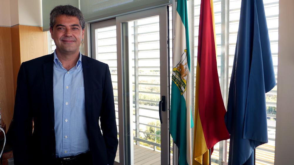 Carmelo Rodríguez, rector de la Universidad de Almería. Foto de Alfonso Gutiérrez