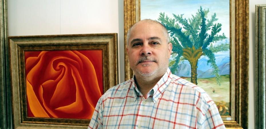Juan Ramón Jover, pintor y galerista almeriense. Foto de Miguel Blanco