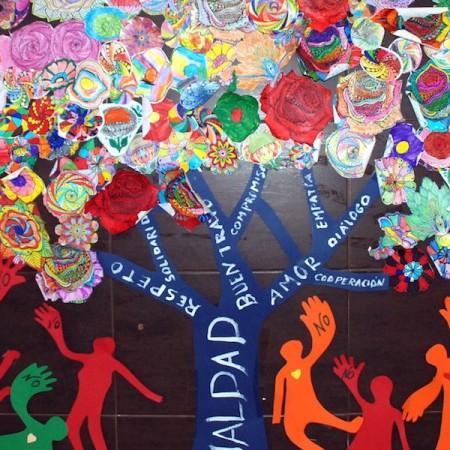 Panel Escuela Espacio de Paz CEIP Virgen del Mar Foto de Miguel Blanco