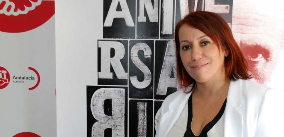 Carmen Vidal, secretaria general de UGT Almería. Foto de Miguel Blanco