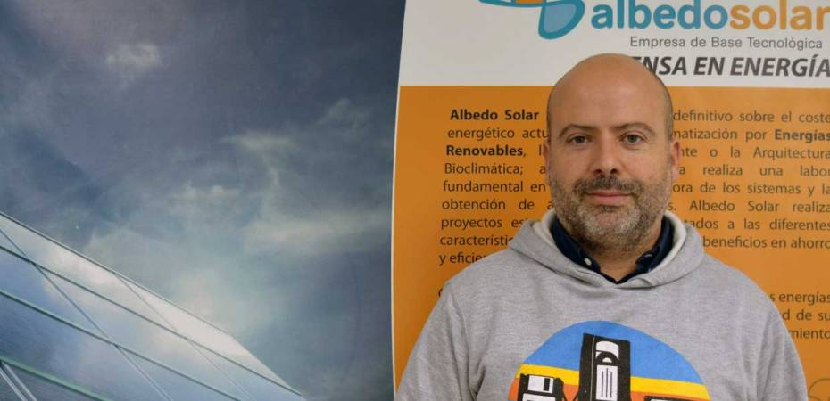 Jesús Parrilla, socio fundador de Albedo Solar. Foto de Miguel Blanco