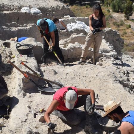 Excavación del MemoLab en Mojácar la Vieja. Foto de Miguel Blanco