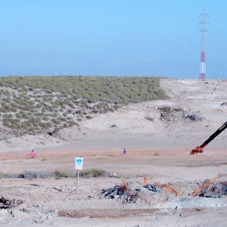Obras del AVE en el tramo Níjar-Río Andarax de Almería. Foto de Miguel Blanco / Foco Sur